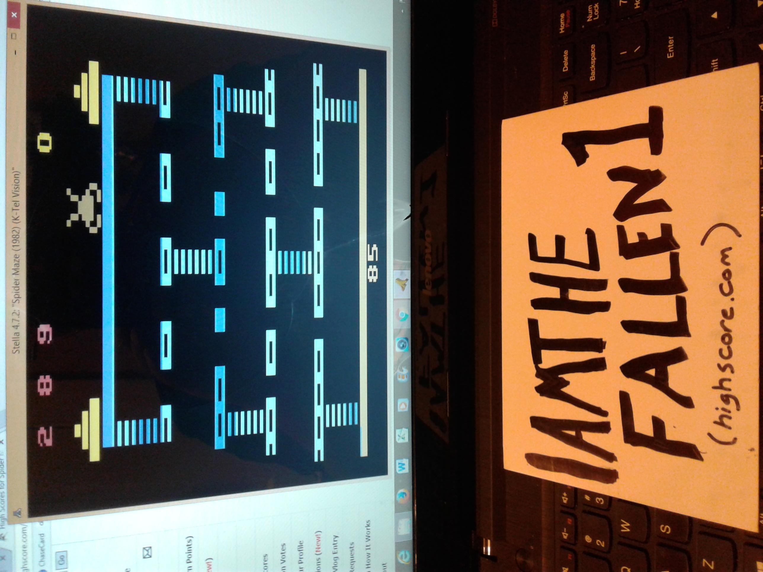 iamthefallen1: Spider Maze / Inca Gold / Spider Kong / Spider Monster (Atari 2600 Emulated) 289 points on 2017-05-04 20:14:24