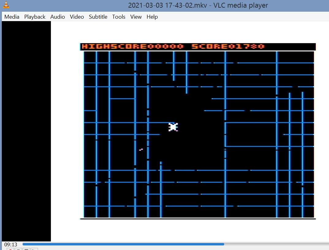LuigiRuffolo: Spidercide (TRS-80 CoCo Emulated) 1,780 points on 2021-03-03 13:50:51