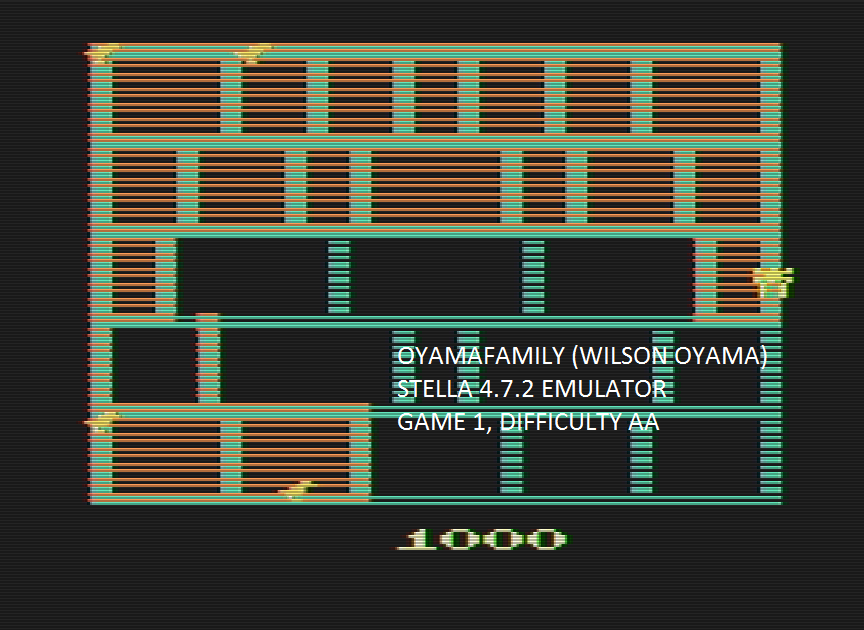 oyamafamily: Spiderdroid (Atari 2600 Emulated Expert/A Mode) 1,000 points on 2016-08-06 17:10:44