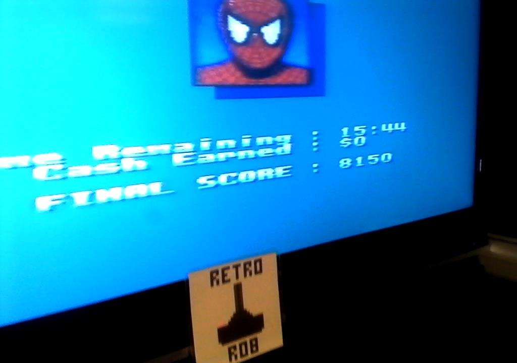 RetroRob: Spiderman vs The Kingpin [Difficult] (Sega Master System) 8,150 points on 2019-07-15 04:14:40