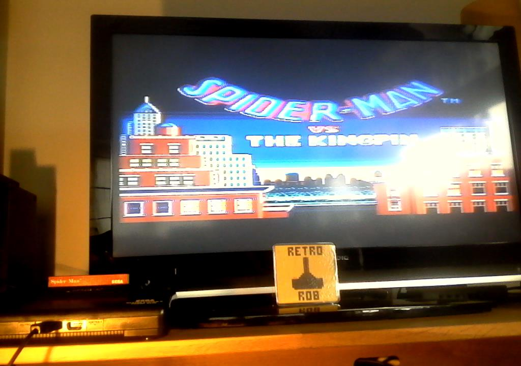 RetroRob: Spiderman vs The Kingpin [Easy] (Sega Master System) 8,350 points on 2019-07-15 04:10:58