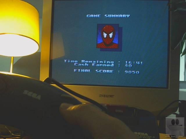 GTibel: Spiderman vs The Kingpin [Easy] (Sega Master System) 9,050 points on 2019-10-01 09:19:00