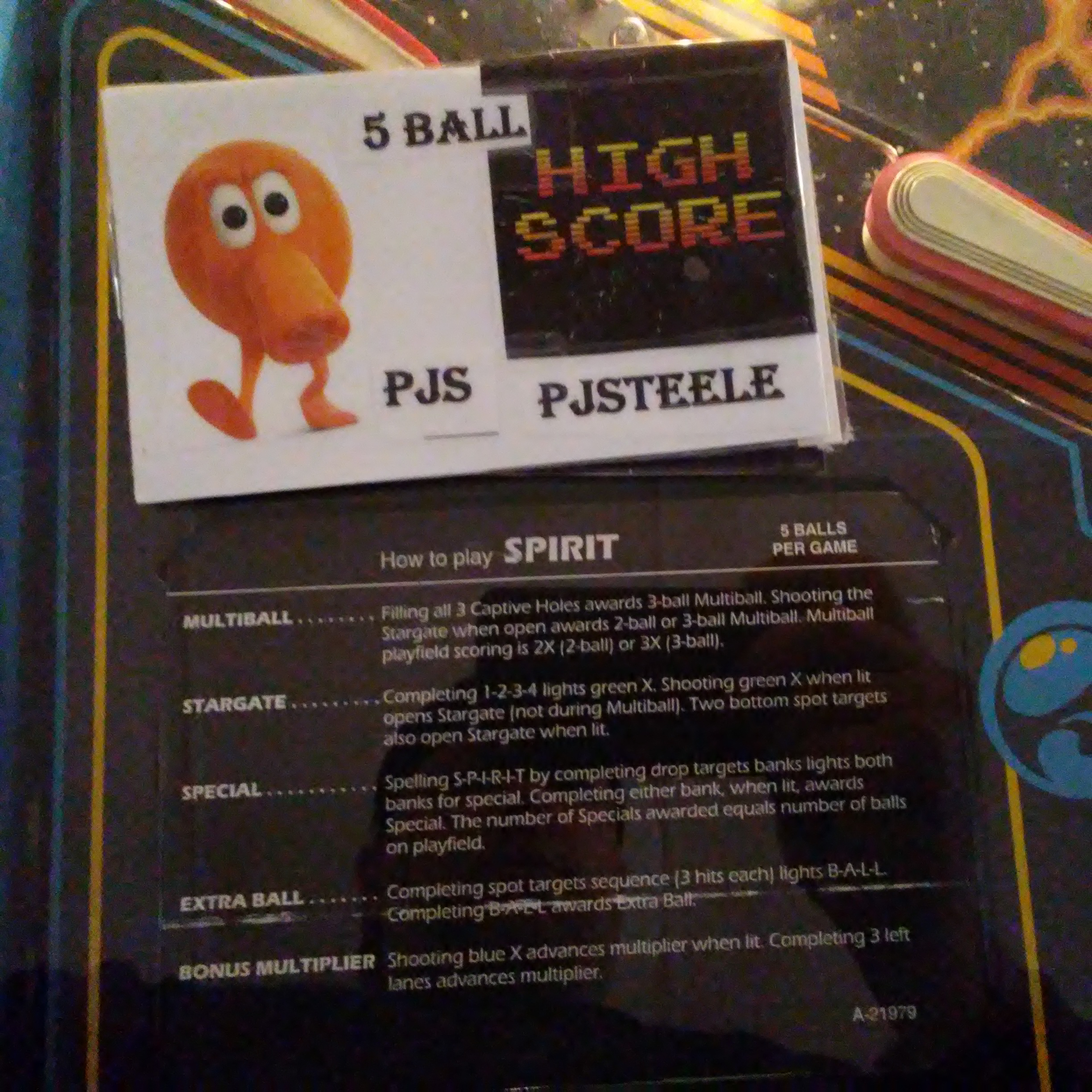 Pjsteele: Spirit (Pinball: 5 Balls) 396,070 points on 2018-03-04 08:05:04
