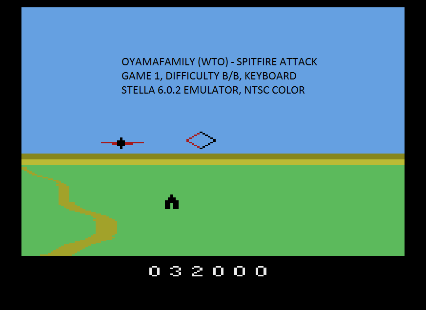 oyamafamily: Spitfire Attack (Atari 2600 Emulated Novice/B Mode) 32,000 points on 2020-04-07 20:03:25