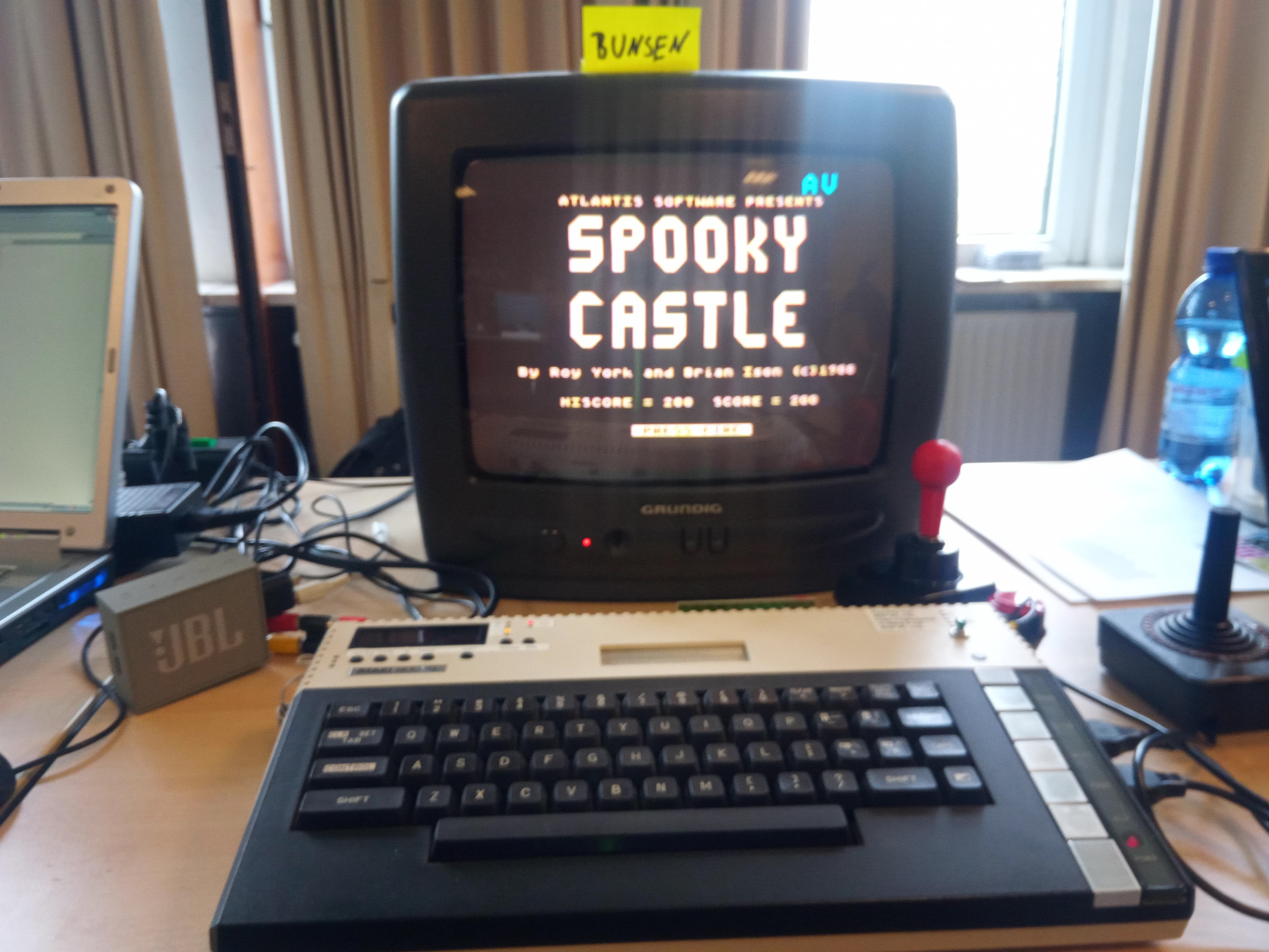 Bunsen: Spooky Castle (Atari 400/800/XL/XE) 200 points on 2019-07-02 12:32:08