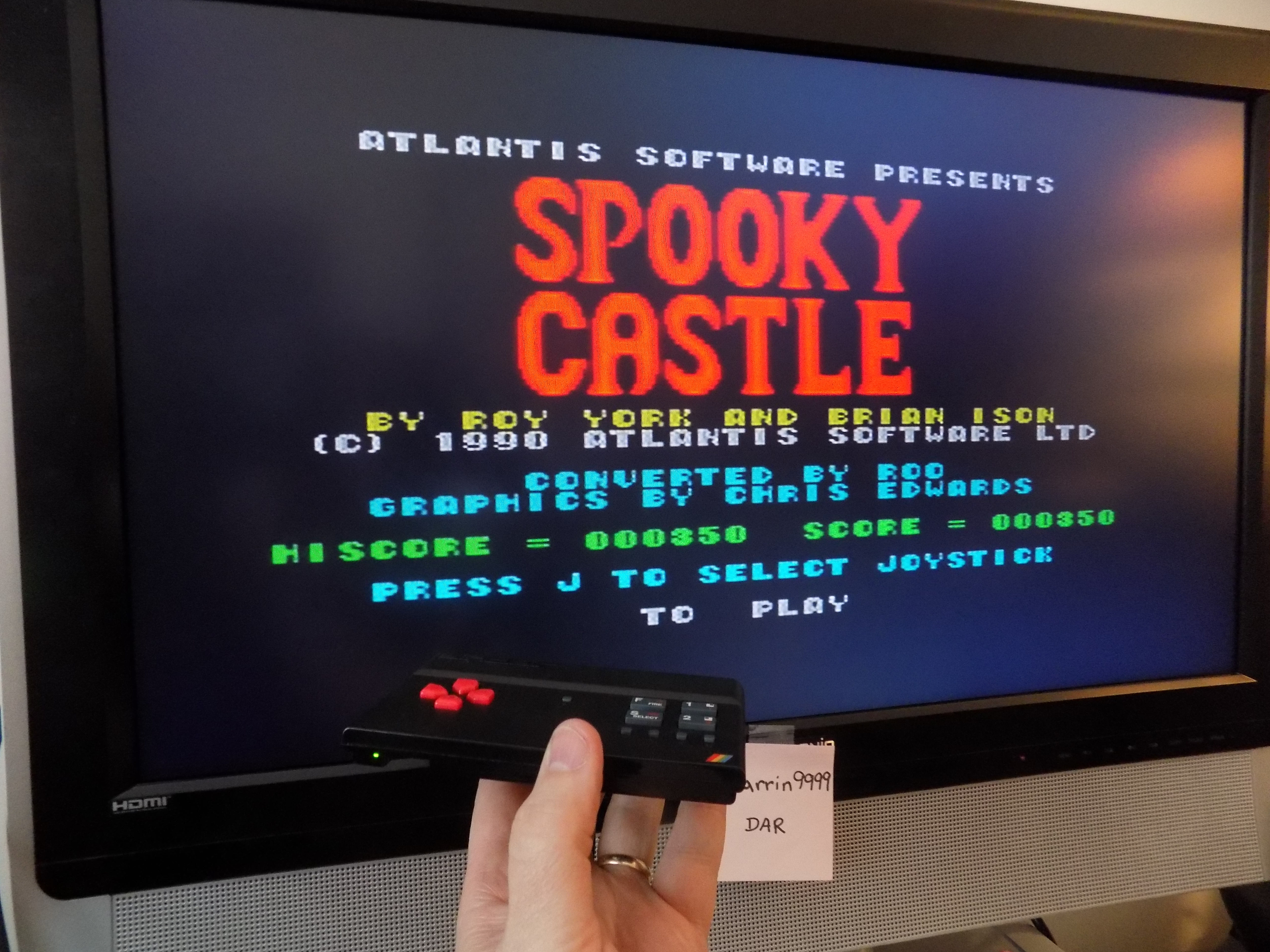 darrin9999: Spooky Castle (ZX Spectrum Emulated) 350 points on 2017-02-26 22:15:13