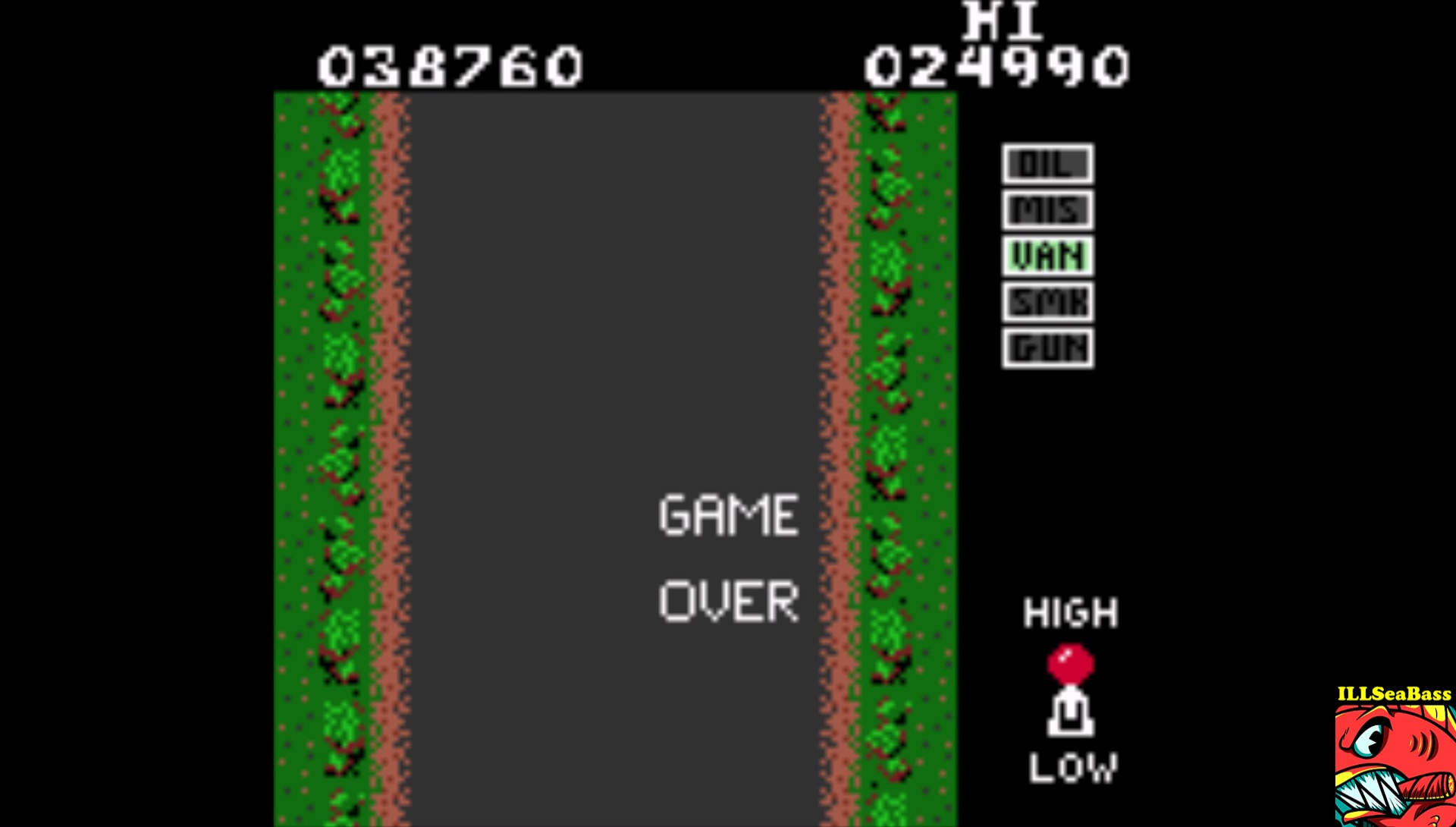 ILLSeaBass: Spy Hunter (Game Boy Color Emulated) 38,760 points on 2017-06-18 13:03:03