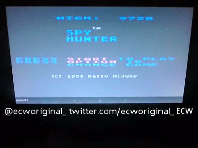 ecworiginal: Spy Hunter [Novice] (Atari 400/800/XL/XE Emulated) 9,720 points on 2016-04-24 11:38:33