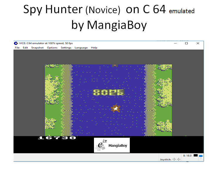 MangiaBoy: Spy Hunter: Novice (Commodore 64 Emulated) 16,730 points on 2017-01-13 12:47:42
