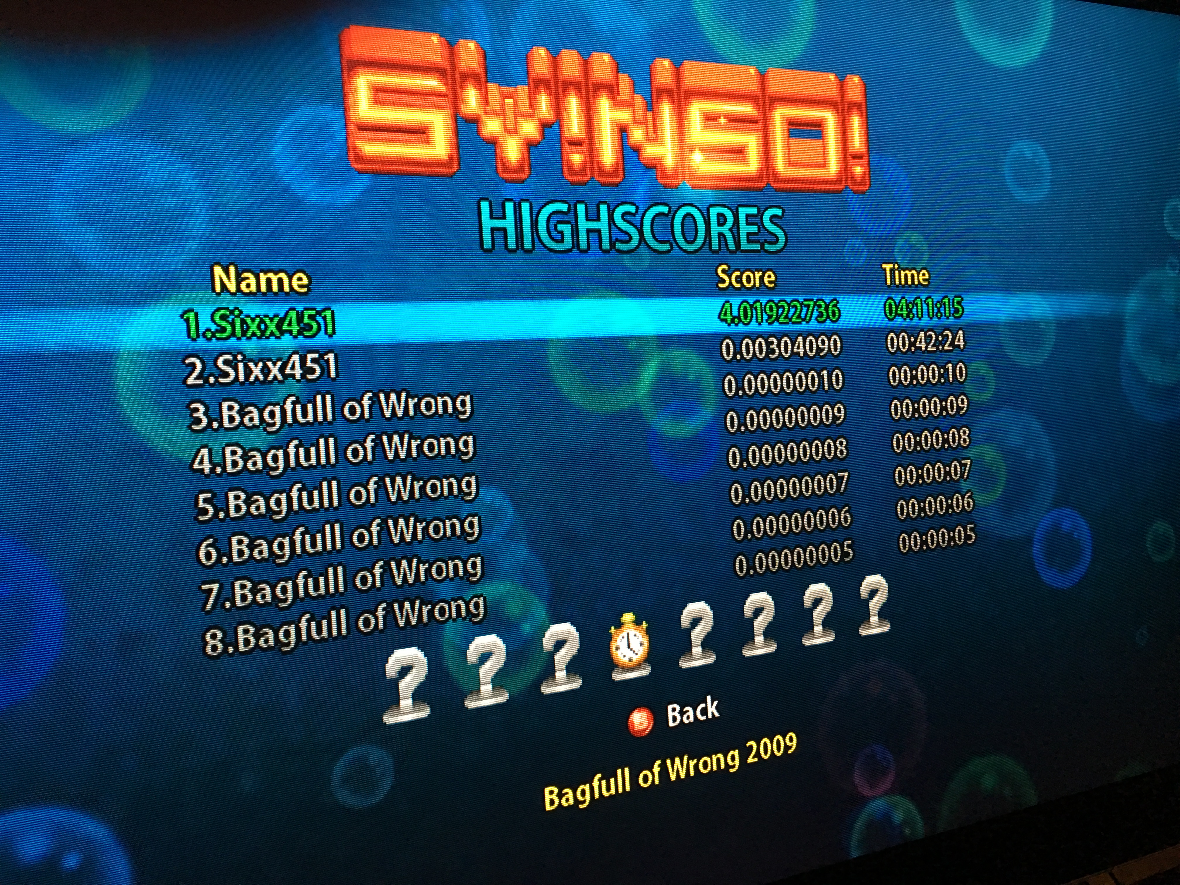 Sixx: Squid Yes! Not So Octopus! (Xbox 360) 401,922,736 points on 2016-06-03 15:50:34