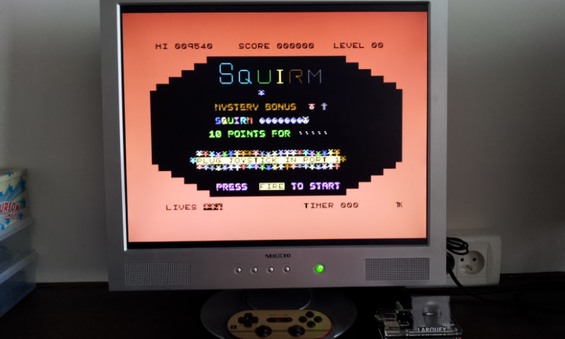 Larquey: Squirm (Commodore 64 Emulated) 9,540 points on 2017-08-30 09:26:28