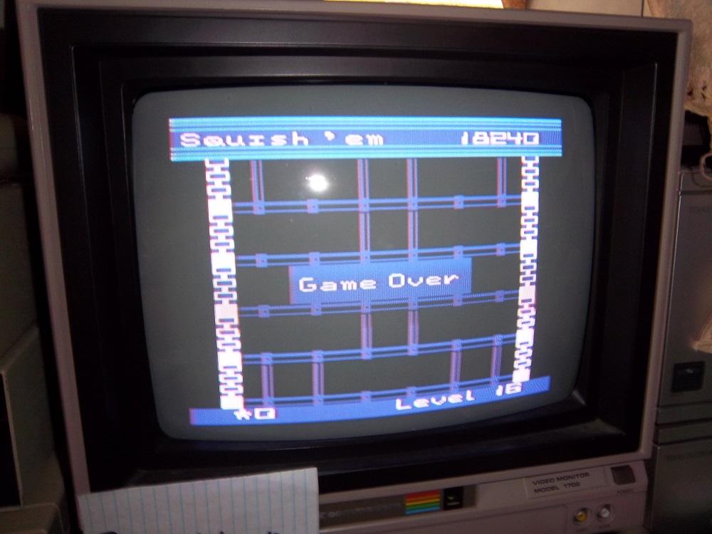 darthkur: Squish Em (Commodore 64) 18,240 points on 2016-04-20 19:56:48