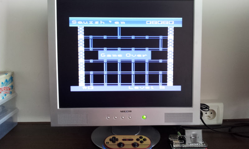 Larquey: Squish Em (Commodore 64 Emulated) 6,060 points on 2017-08-30 09:32:02