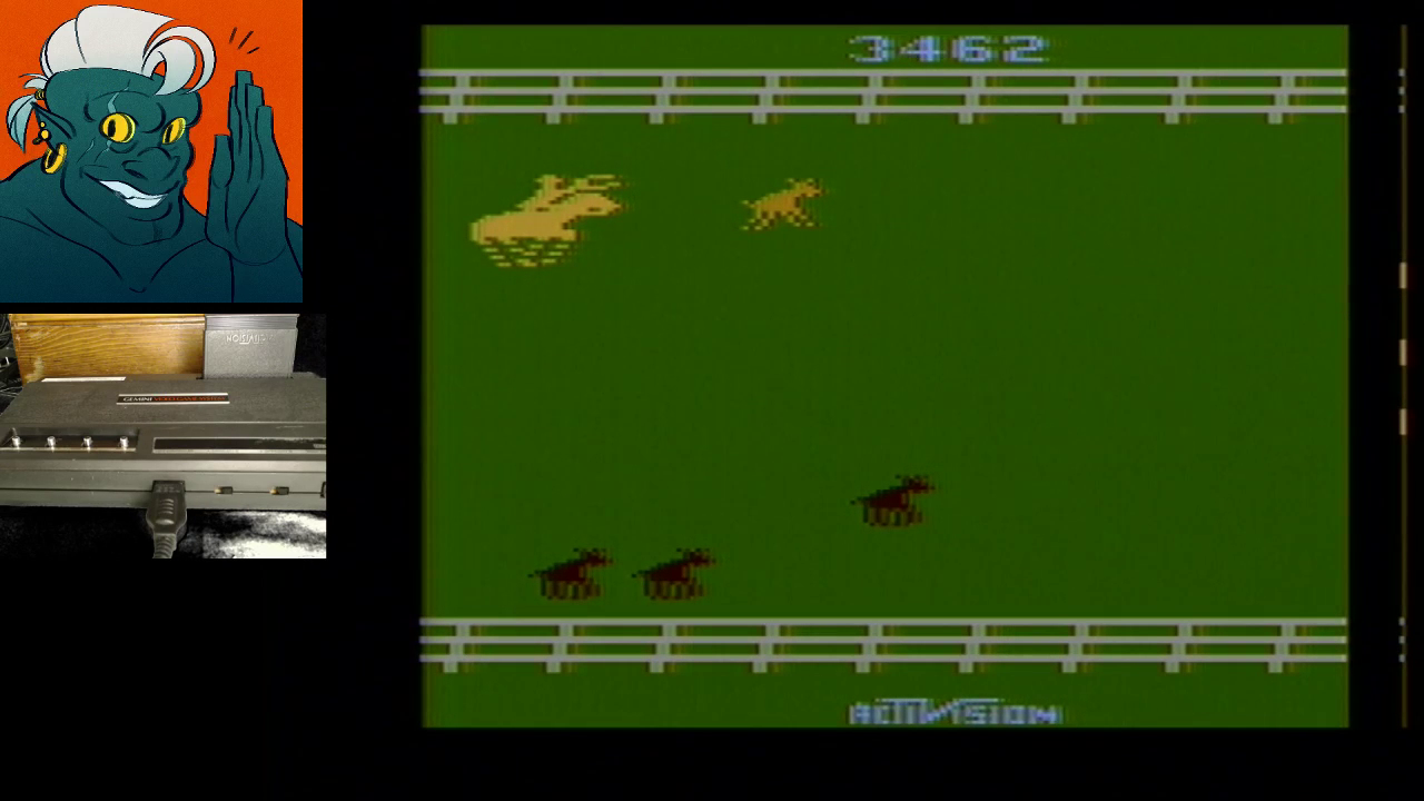 AwesomeOgre: Stampede (Atari 2600 Expert/A) 3,462 points on 2019-06-28 20:08:06