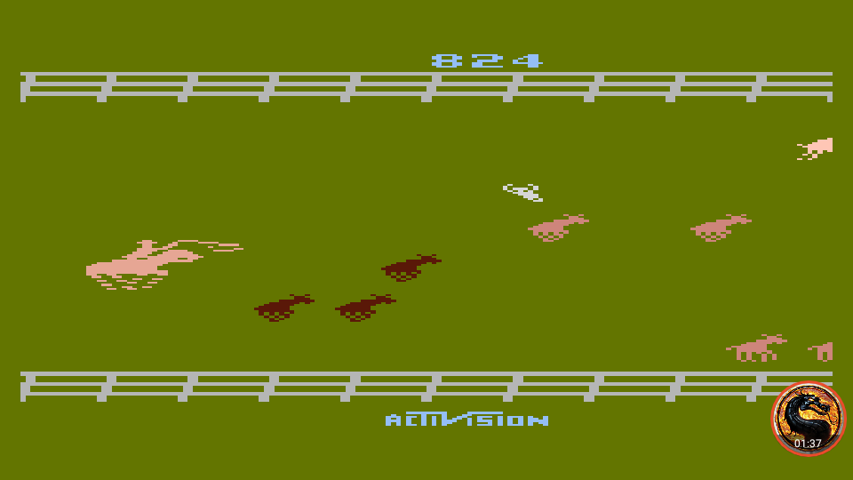 omargeddon: Stampede [Game 1] (Atari 400/800/XL/XE Emulated) 824 points on 2019-06-09 19:16:38
