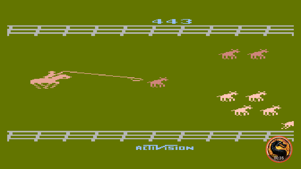 omargeddon: Stampede [Game 2] (Atari 400/800/XL/XE Emulated) 443 points on 2019-06-09 19:17:15