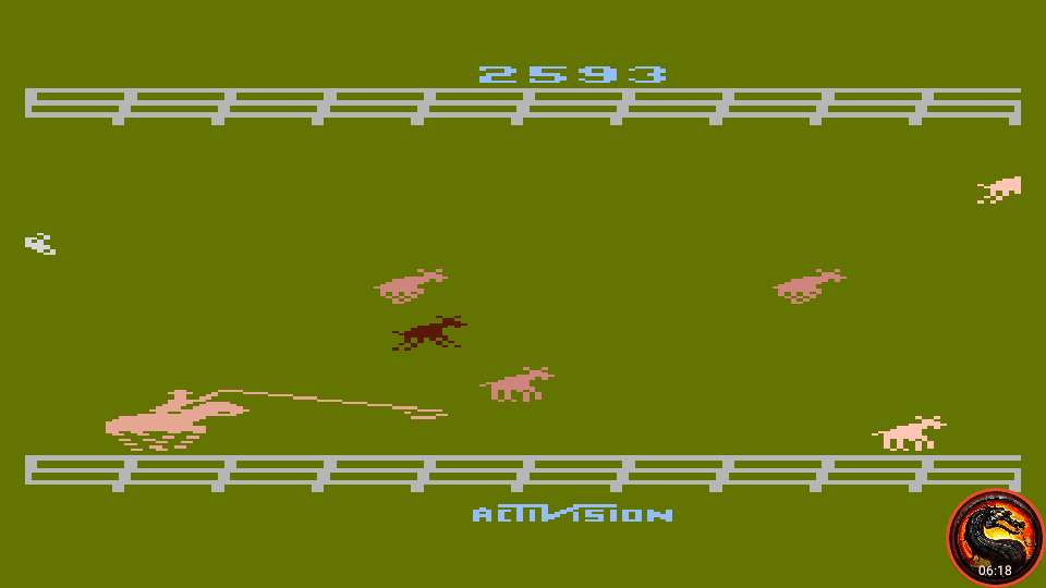 omargeddon: Stampede [Game 2] (Atari 400/800/XL/XE Emulated) 2,593 points on 2020-02-19 21:03:23