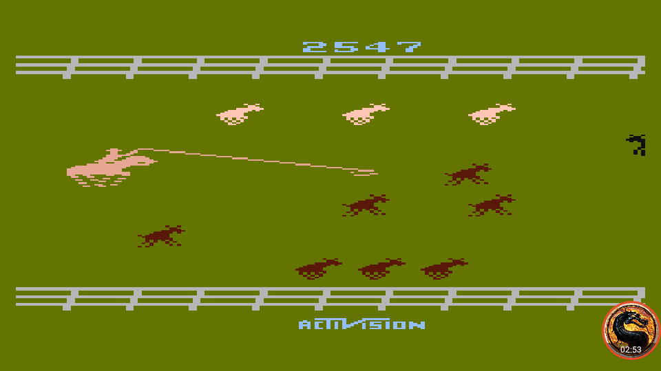 omargeddon: Stampede [Game 3] (Atari 400/800/XL/XE Emulated) 2,547 points on 2019-06-09 05:51:49