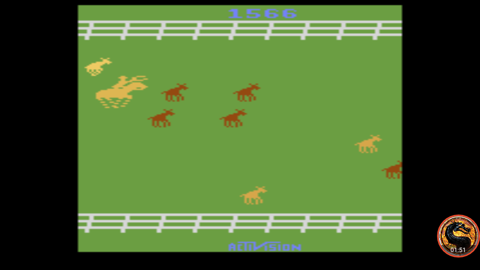 omargeddon: Stampede: Game 4 (Atari 2600 Emulated Expert/A Mode) 1,566 points on 2019-05-18 00:17:44