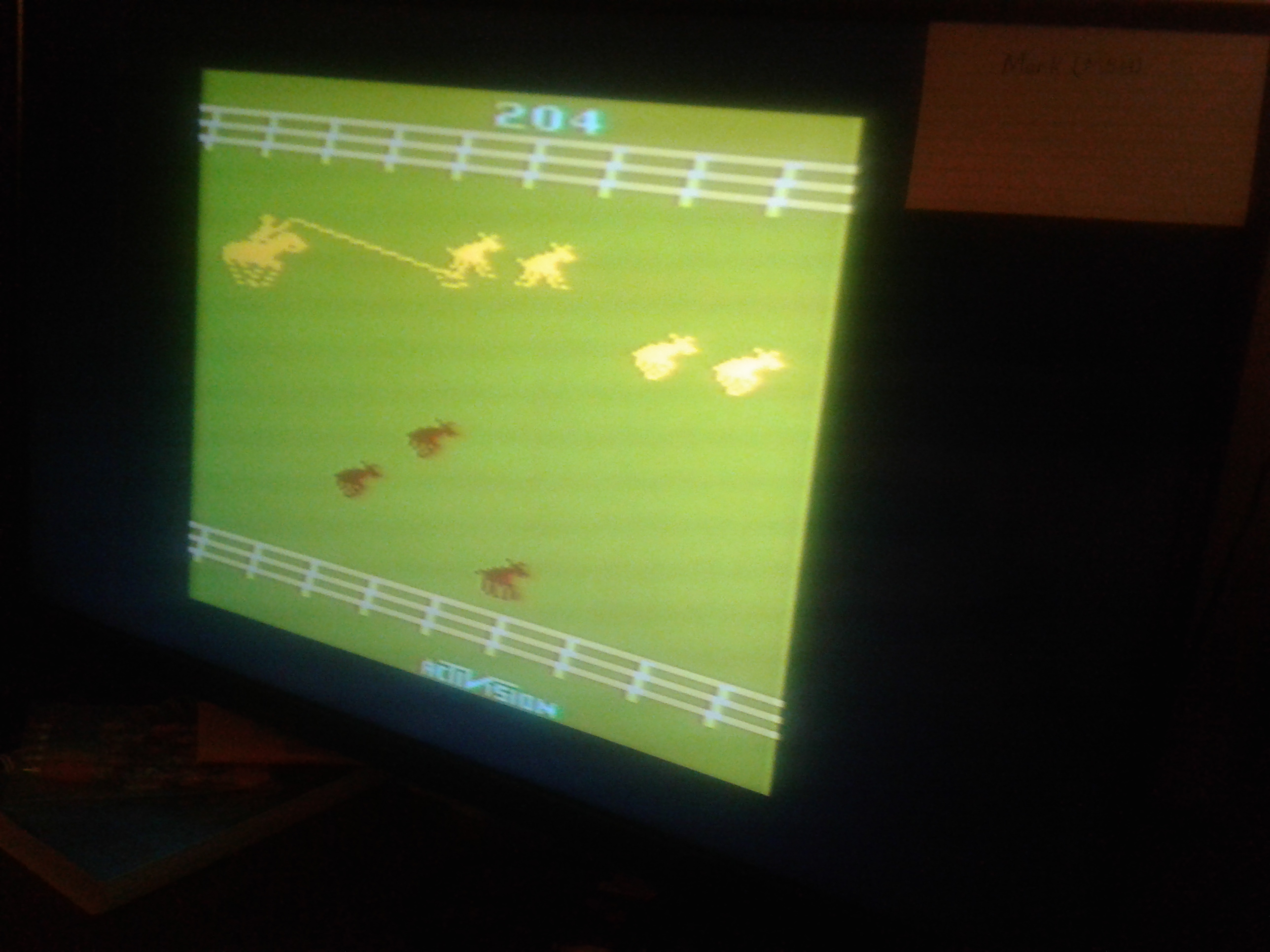 Mark: Stampede: Game 5 (Atari 2600 Novice/B) 204 points on 2019-02-19 00:01:31