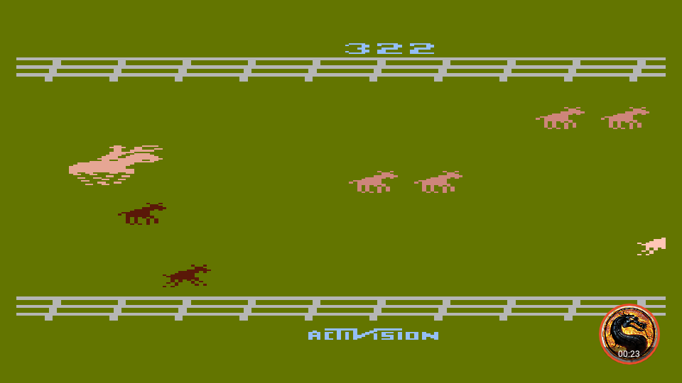 omargeddon: Stampede [Game 5] (Atari 400/800/XL/XE Emulated) 322 points on 2019-06-09 19:18:32