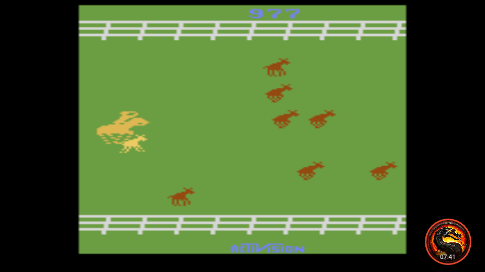 omargeddon: Stampede: Game 6 (Atari 2600 Emulated Expert/A Mode) 977 points on 2020-03-18 22:22:36