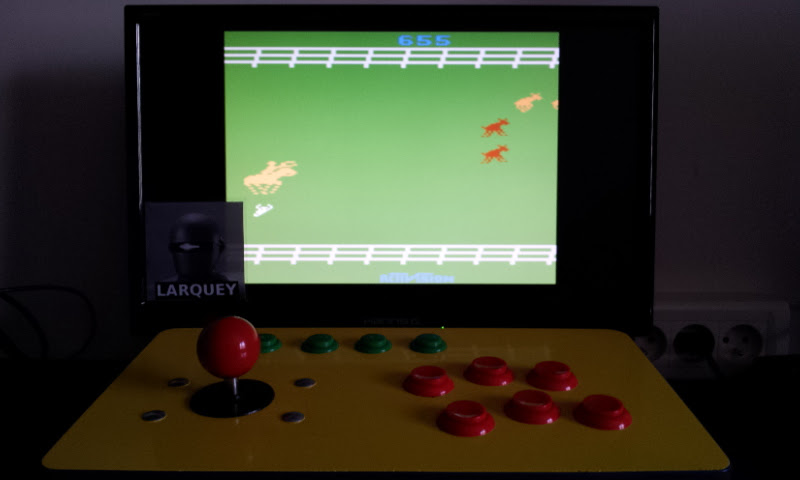Larquey: Stampede: Game 6 (Atari 2600 Emulated Novice/B Mode) 655 points on 2017-05-20 05:43:54