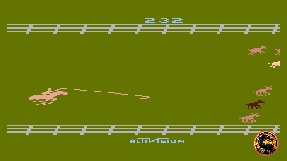 omargeddon: Stampede [Game 6] (Atari 400/800/XL/XE Emulated) 232 points on 2019-06-09 19:19:10