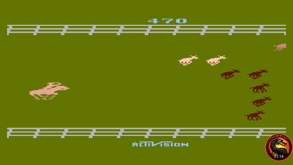 omargeddon: Stampede [Game 6] (Atari 400/800/XL/XE Emulated) 470 points on 2020-02-18 12:22:11