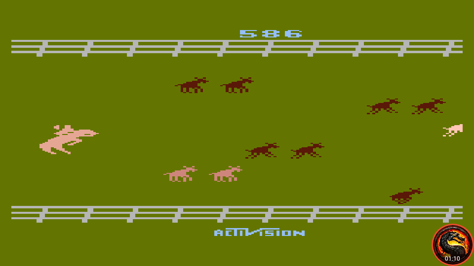 omargeddon: Stampede [Game 6] (Atari 400/800/XL/XE Emulated) 586 points on 2020-06-27 21:37:02