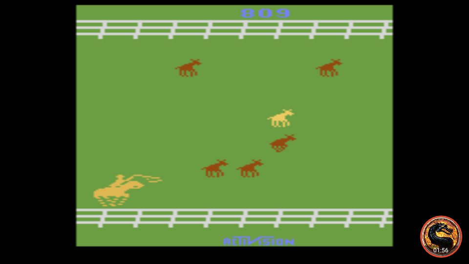 omargeddon: Stampede: Game 7 (Atari 2600 Emulated Expert/A Mode) 809 points on 2019-05-17 23:47:16