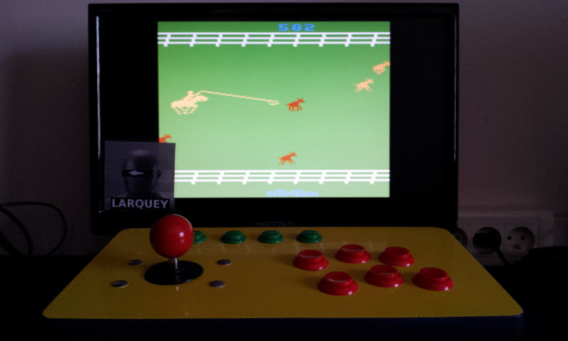 Larquey: Stampede: Game 7 (Atari 2600 Emulated Novice/B Mode) 582 points on 2017-05-20 05:45:30