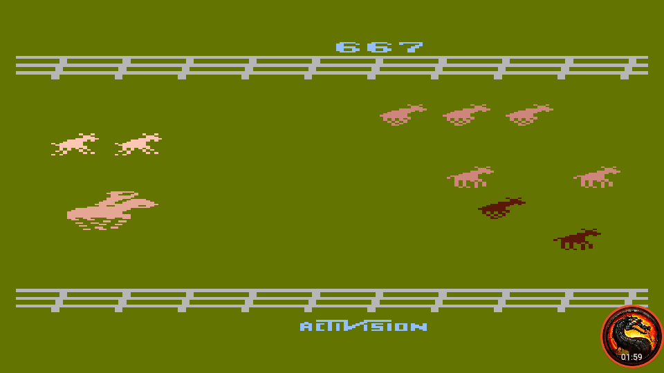 omargeddon: Stampede [Game 7] (Atari 400/800/XL/XE Emulated) 667 points on 2020-02-18 23:47:54