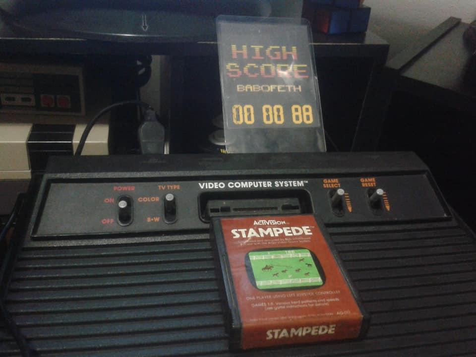 BabofetH: Stampede: Game 8 (Atari 2600 Novice/B) 1,671 points on 2020-06-13 20:37:56