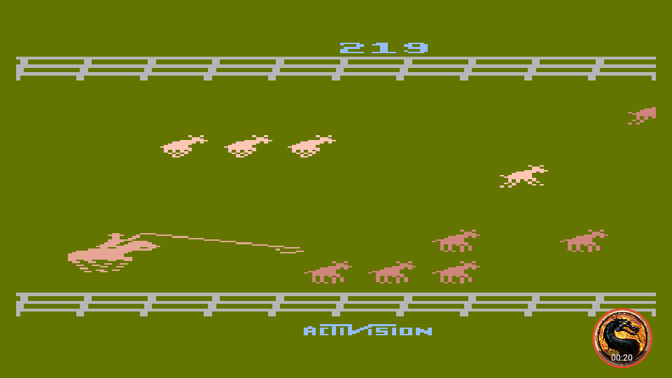 omargeddon: Stampede [Game 8] (Atari 400/800/XL/XE Emulated) 219 points on 2019-06-09 19:20:22