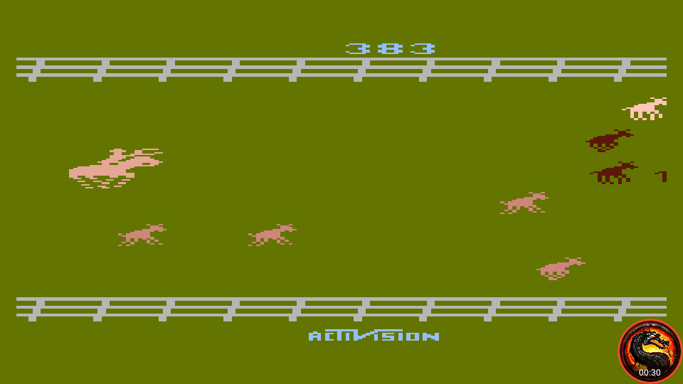 omargeddon: Stampede [Game 8] (Atari 400/800/XL/XE Emulated) 383 points on 2020-02-18 12:14:23