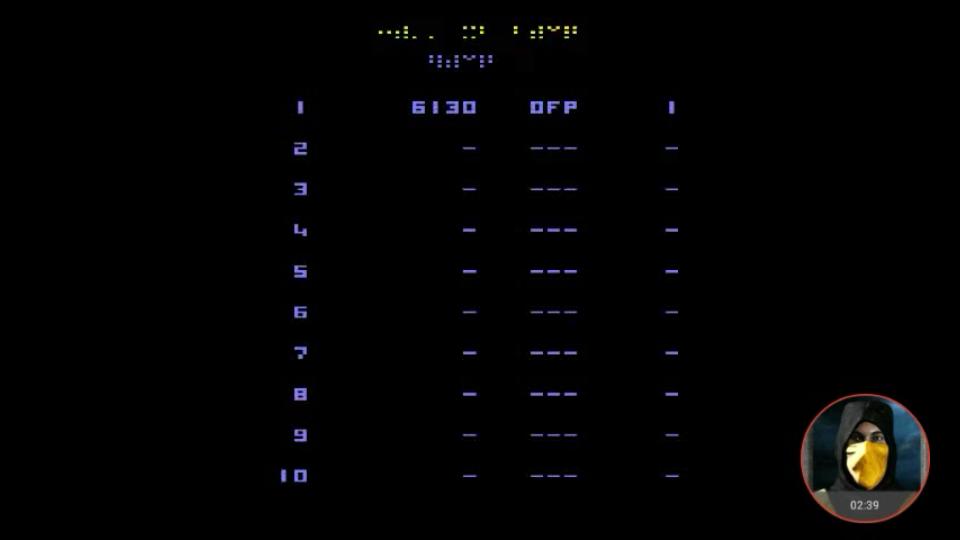 omargeddon: Star Castle Arcade (Atari 2600 Emulated Novice/B Mode) 6,130 points on 2018-02-24 22:07:10