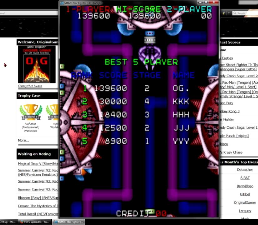 OriginalGamer: Star Fighter (Arcade Emulated / M.A.M.E.) 139,600 points on 2015-07-09 06:38:45