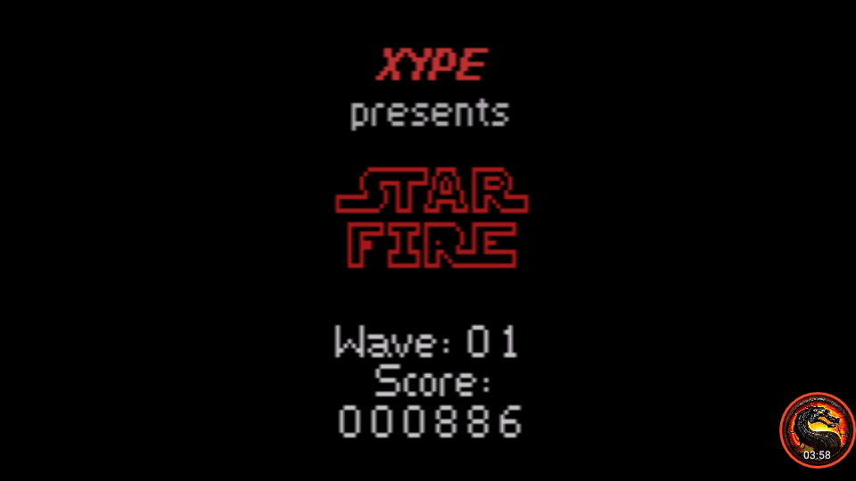 omargeddon: Star Fire (Atari 2600 Emulated Expert/A Mode) 886 points on 2020-08-31 11:05:12