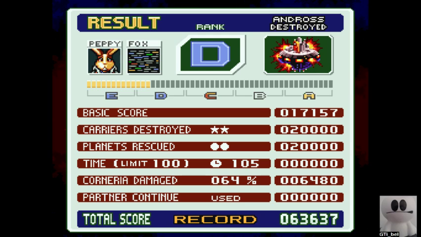 Star Fox 2 [Normal] 63,637 points