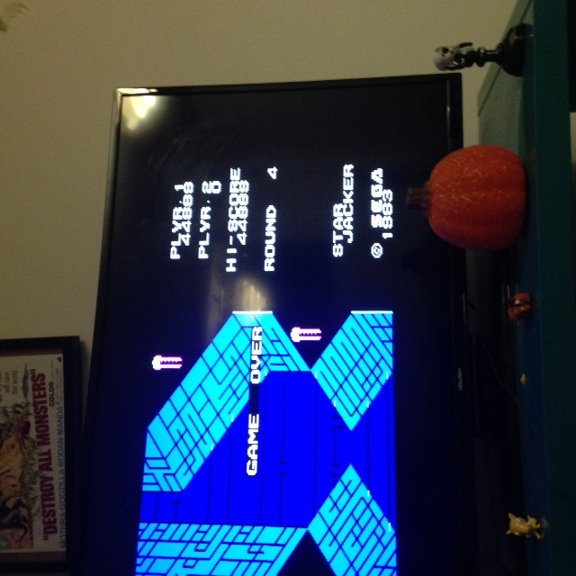 mechafatnick: Star Jacker (Sega SG-1000) 44,888 points on 2015-10-30 02:03:02