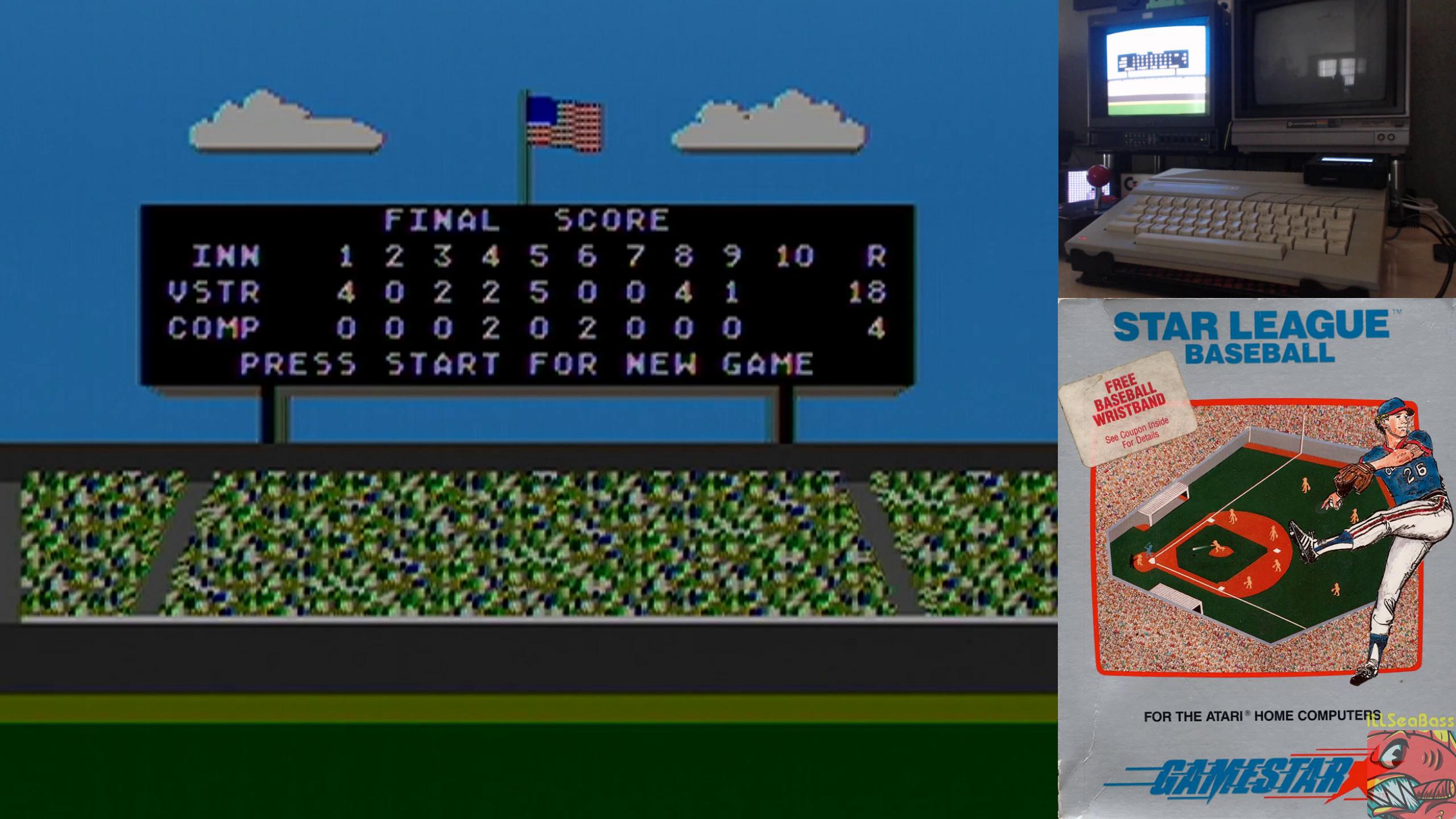 ILLSeaBass: Star League Baseball [Point Difference] (Atari 400/800/XL/XE) 14 points on 2019-10-03 00:22:28