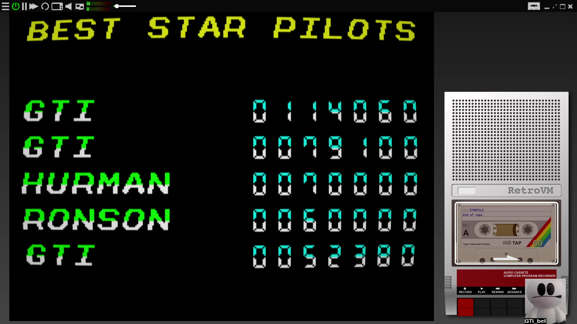 GTibel: Star Pilot (ZX Spectrum Emulated) 114,060 points on 2020-07-31 06:47:11