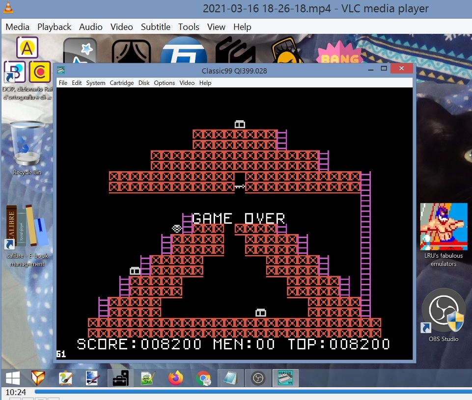 LuigiRuffolo: Star Runner (TI 99/4A Emulated) 8,200 points on 2021-03-16 13:06:30