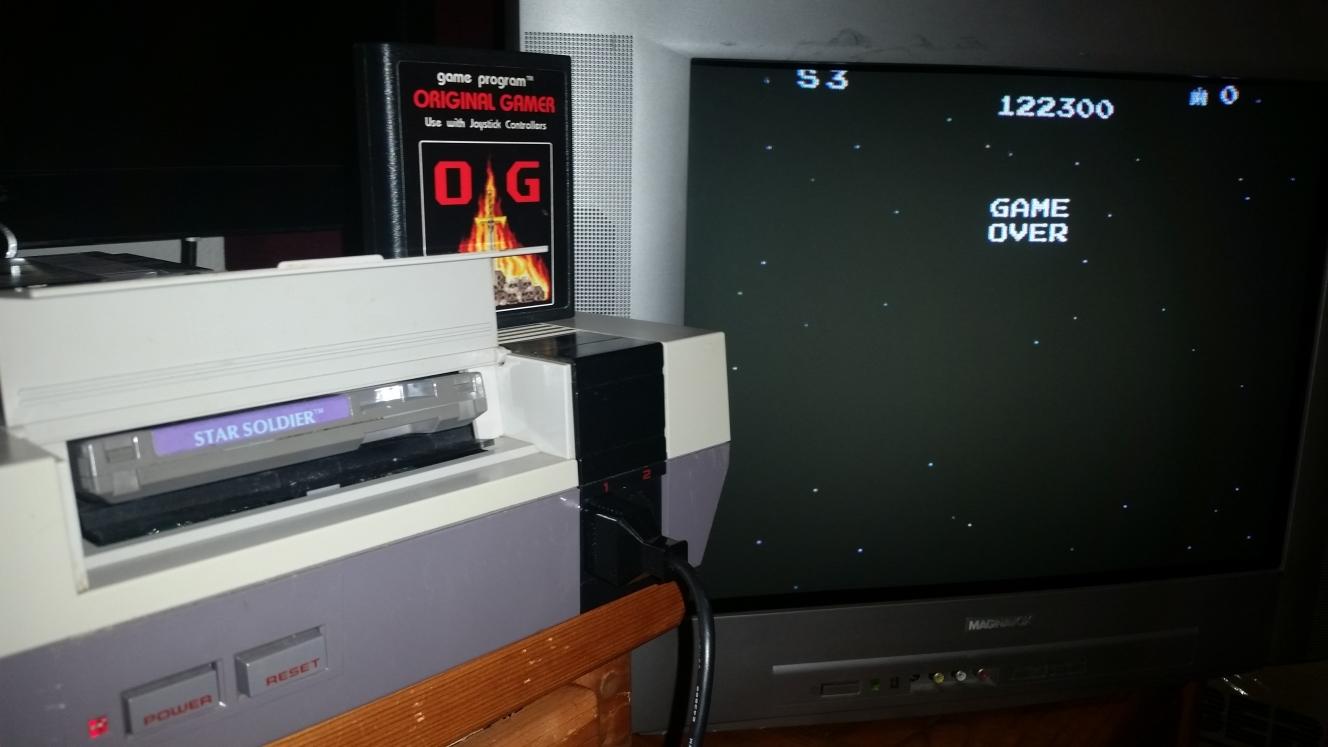 OriginalGamer: Star Soldier (NES/Famicom) 122,300 points on 2016-06-26 22:47:16