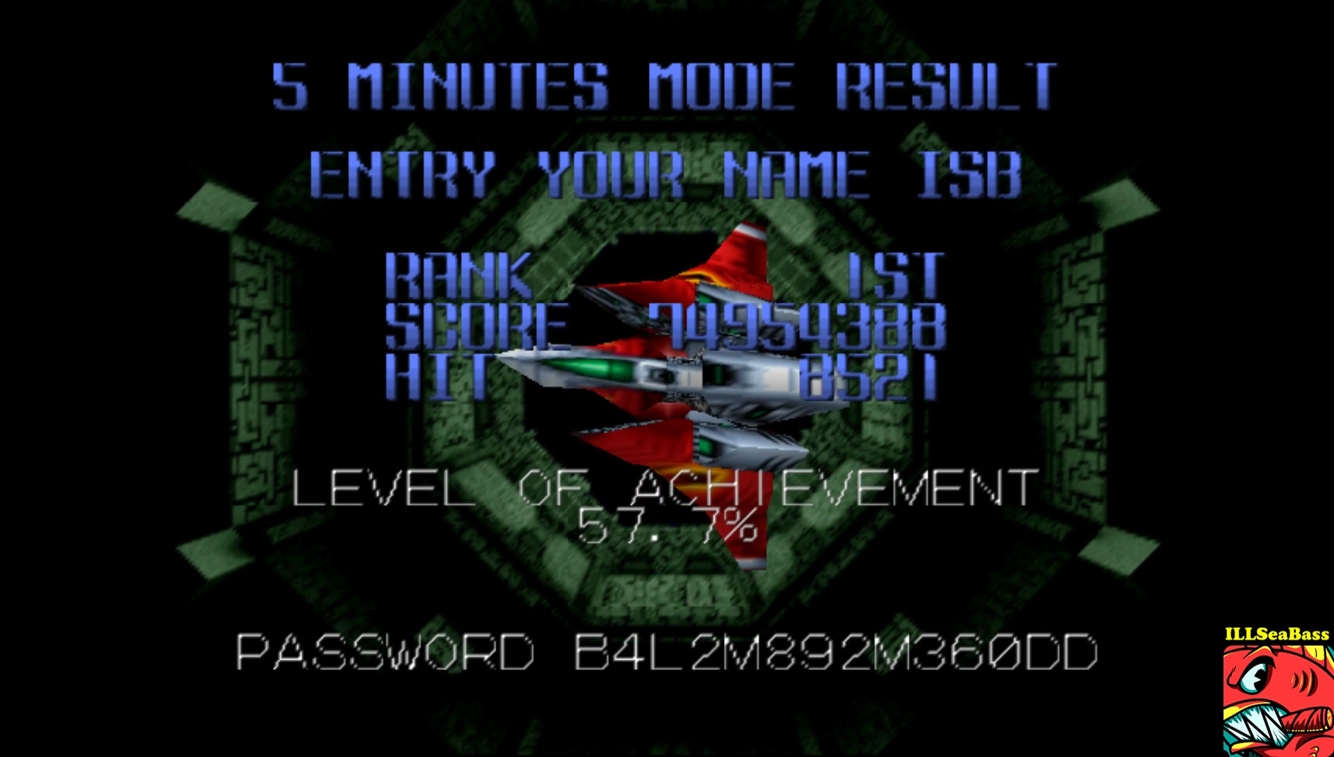 Star Soldier Vanishing Earth: 5 Minutes Mode [Master] 74,954,388 points