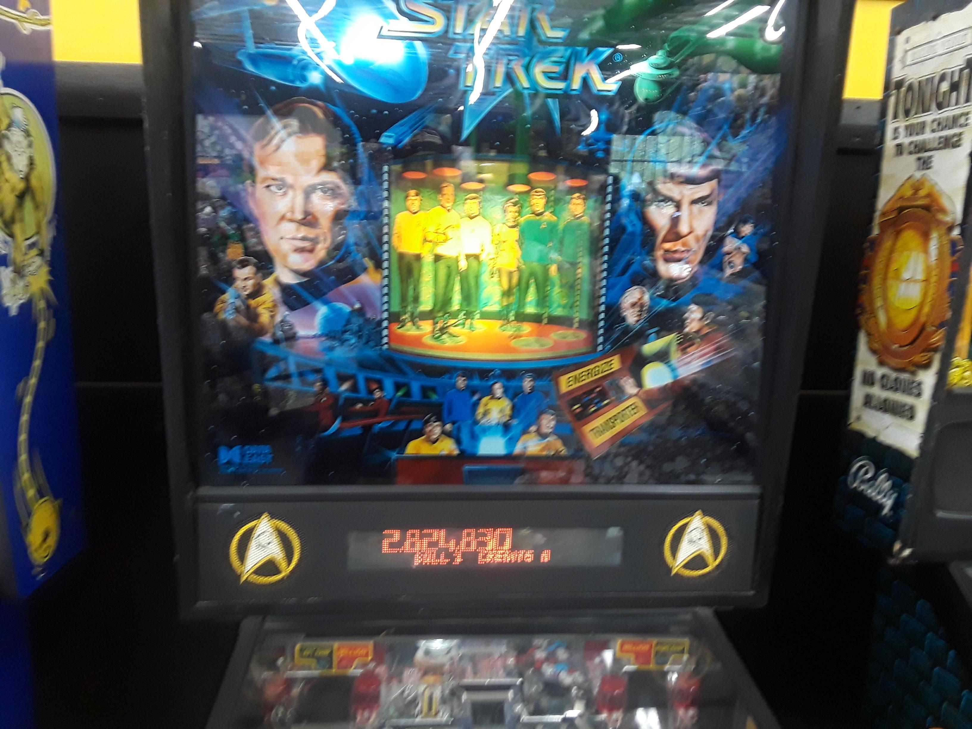 JML101582: Star Trek (1991 pinball) (Pinball: 3 Balls) 2,824,830 points on 2018-08-04 00:15:53