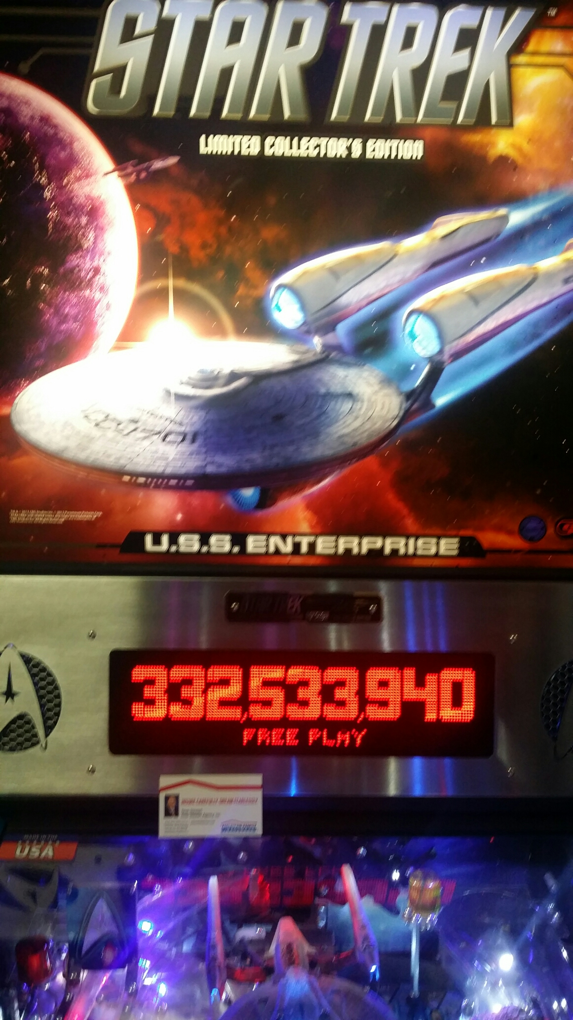 SeanStewart: Star Trek (2013 pinball) (Pinball: 3 Balls) 332,533,940 points on 2016-12-17 13:07:12