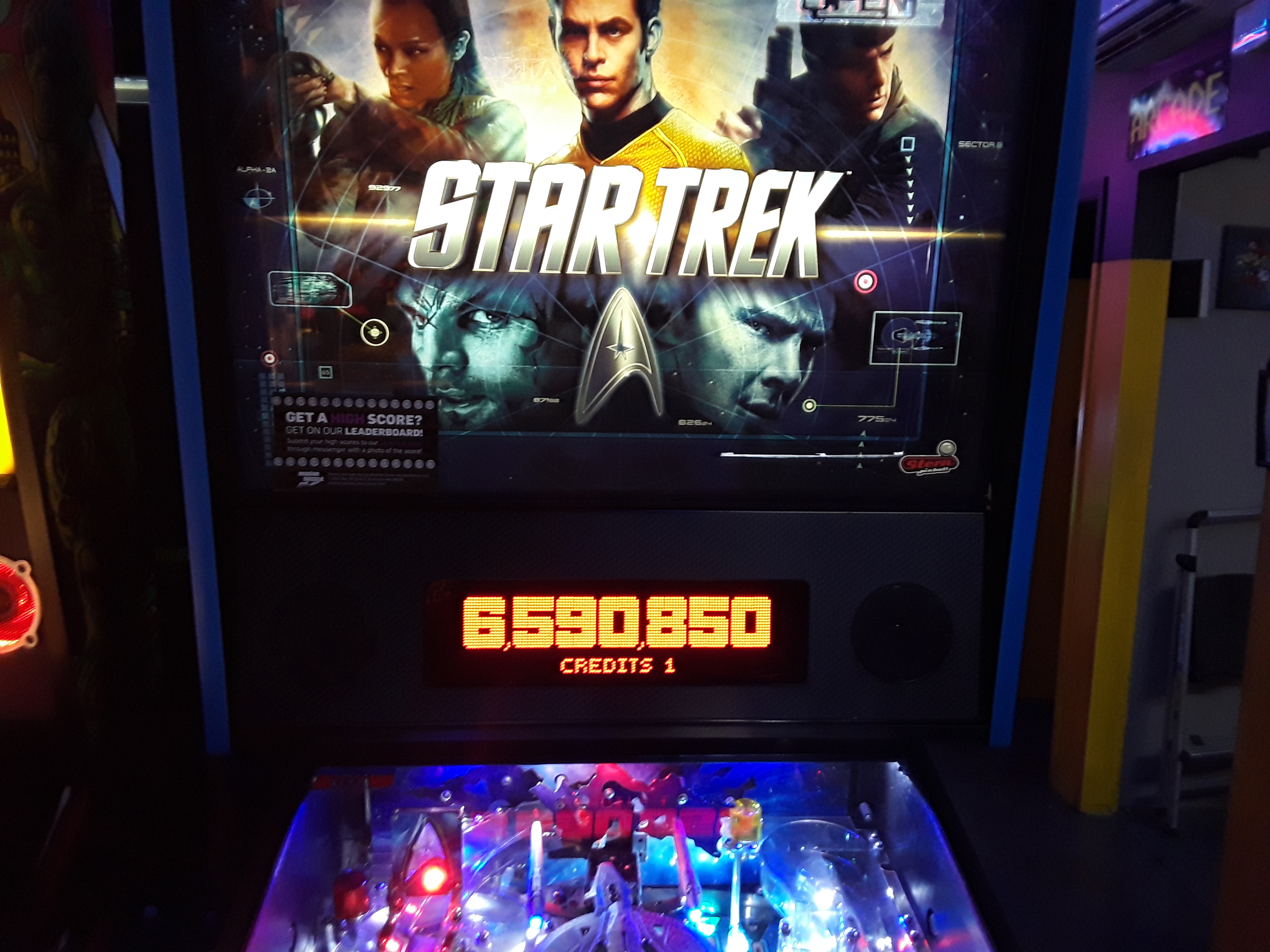 Star Trek (2013 pinball) 6,590,850 points