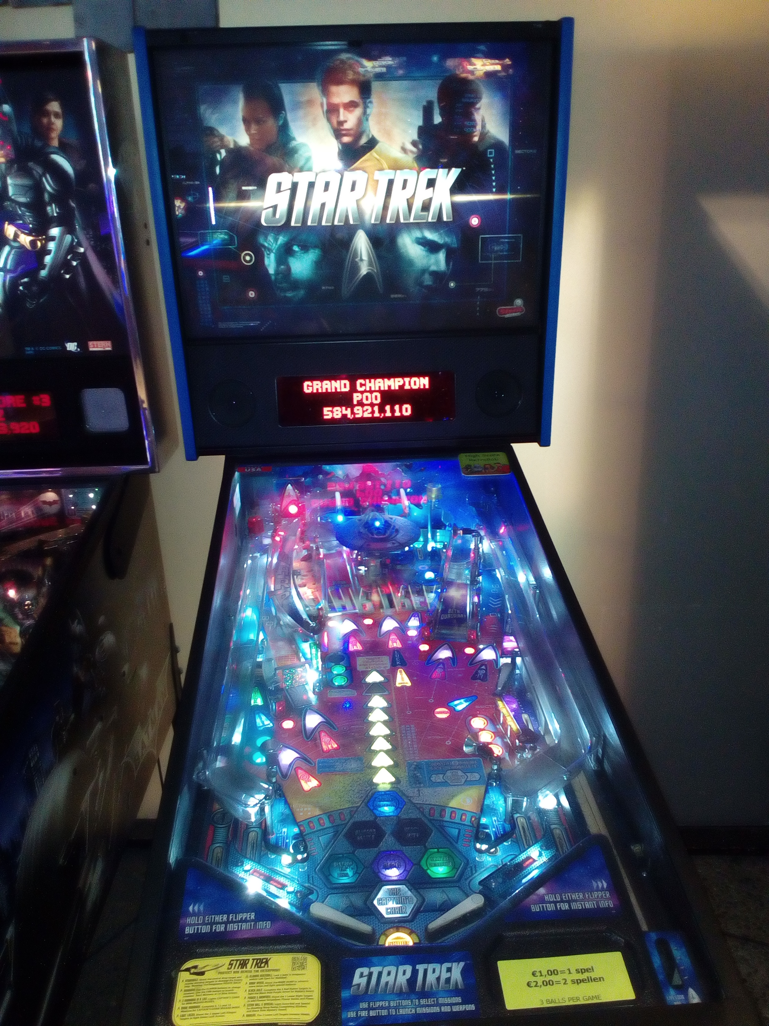 Star Trek (2013 pinball) 4,900,980 points